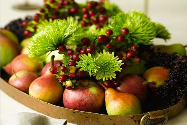Осенние дары природы как элемент декора