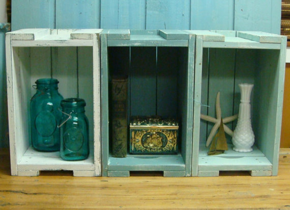 Ящички для хранения предметов декора в морском стиле