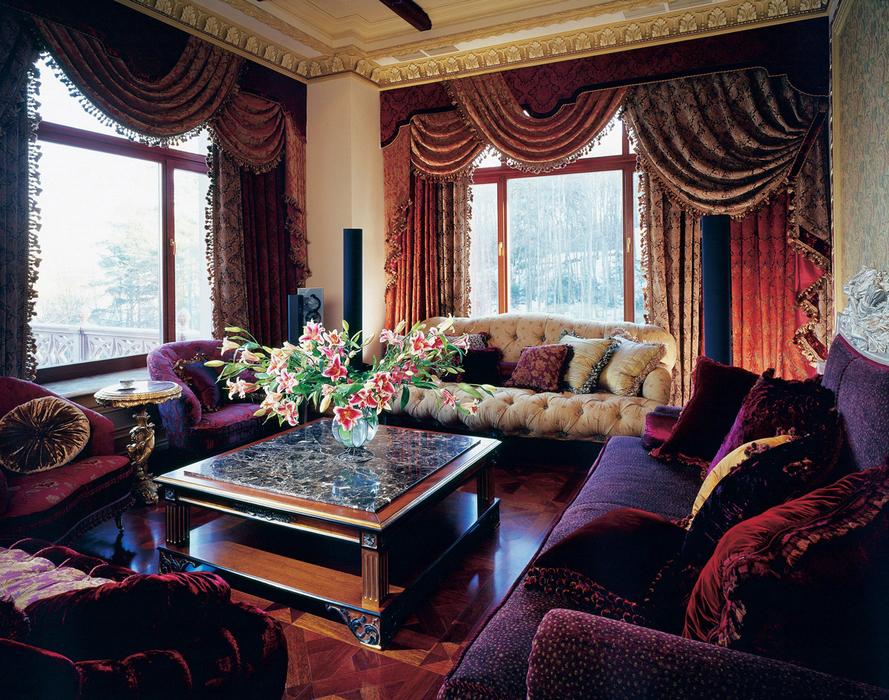 Оформление интерьера помещения в стиле «ампир»