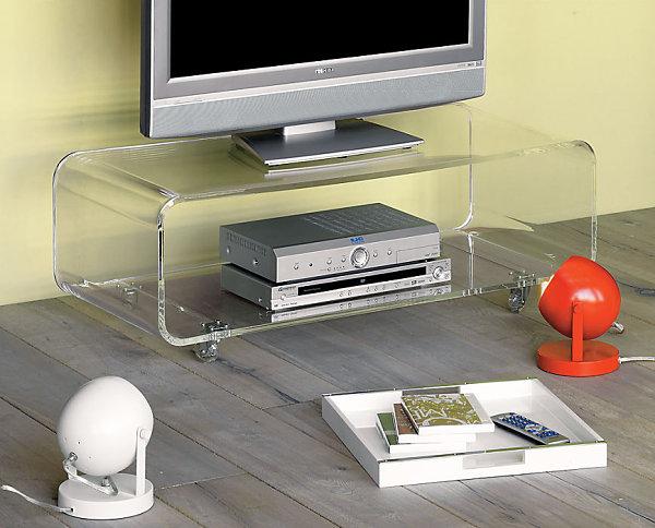 Прозрачная подставка для телевизора