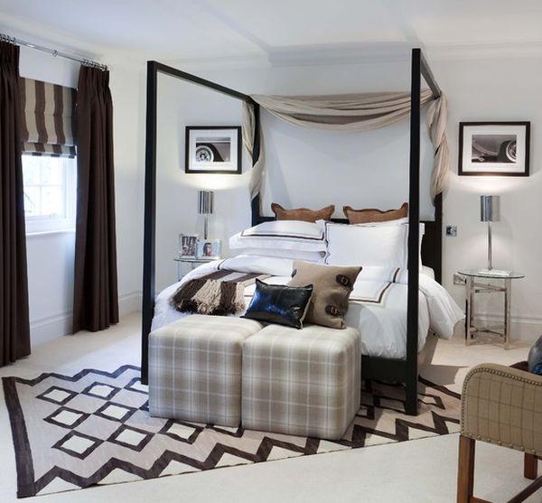 Необычный коврик в спальной комнате