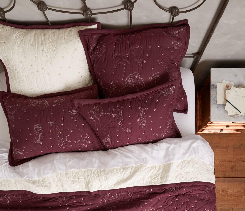 Подушки с вышивкой в цвете Marsala от Jillian Rene Decor