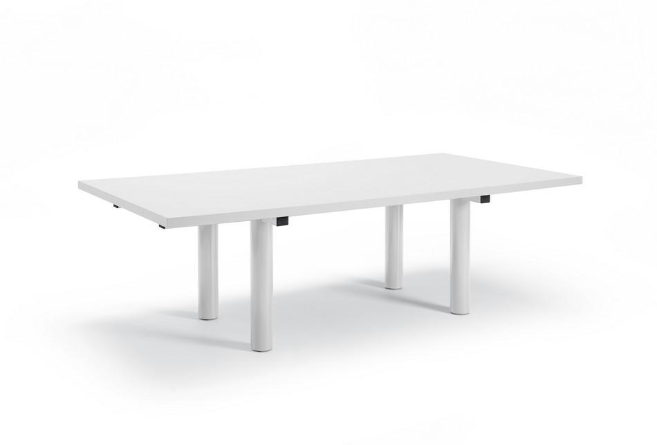Белый стол для конференц-зала