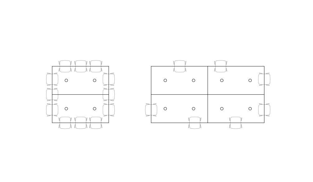 Планировка стола для конференц-зала