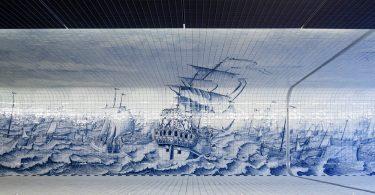 Морское чудо в Амстердаме: фантастический подземный тоннель с фреской из тысяч керамических плиток