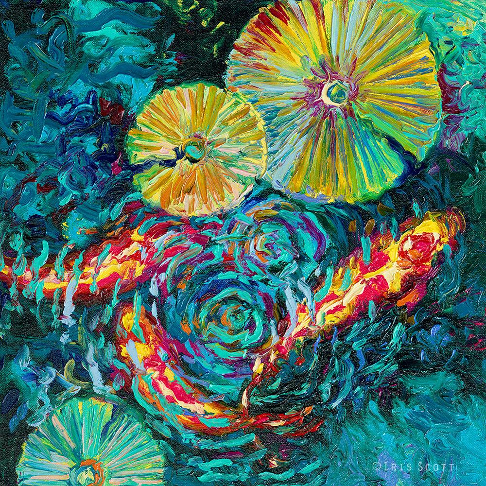 Живопись пальцами: импрессионистические картины Айрис Скотт