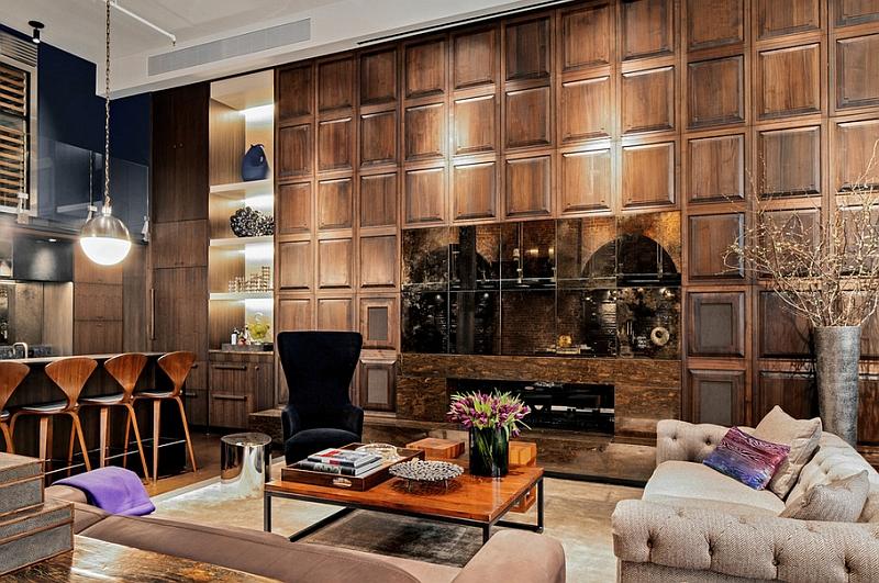 Красивый дизайн интерьера гостиной зоны