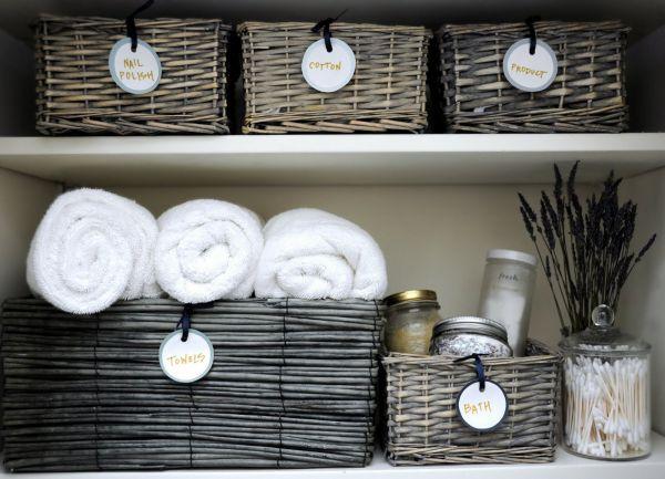 Плетеные корзины для хранения белья
