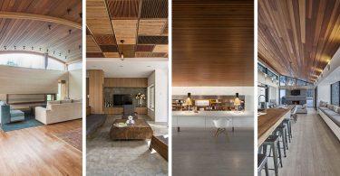 Идеи деревянных потолков в интерьере