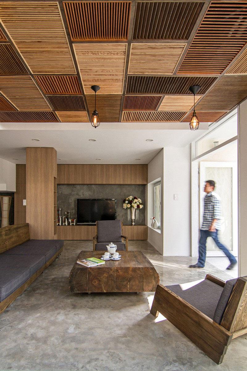 Деревянные потолки в интерьере от студии AHL Architects