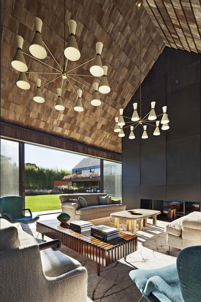 Деревянные потолки в интерьере от фирмы Bates Masi Architects