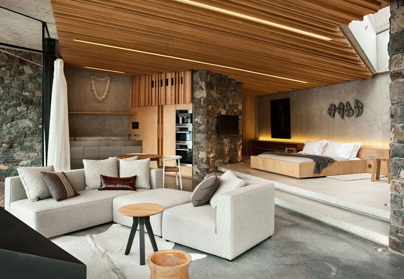 Деревянные потолки в интерьере от Patterson Associates