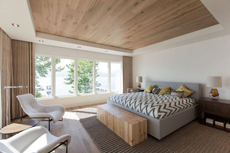 Деревянные потолки в интерьере от Роберта Бейли