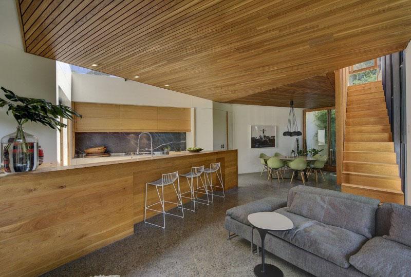 Деревянные потолки в интерьере от Фокса Джонстона