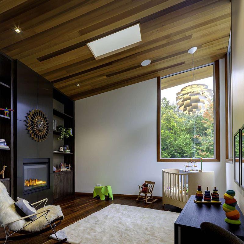 Деревянные потолки в интерьере от Майкла Фицхью