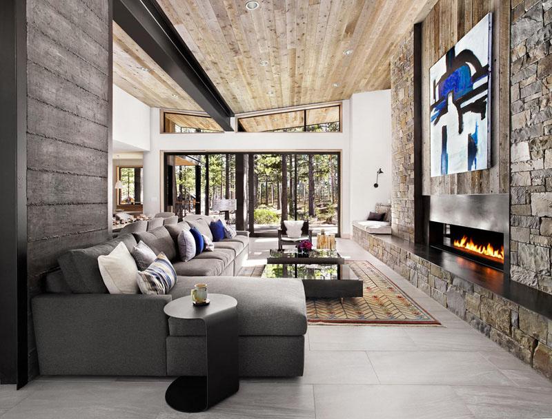 Деревянные потолки в интерьере от студии Sagemodern