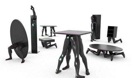 Дизайн образной мебели: металлическая мебель