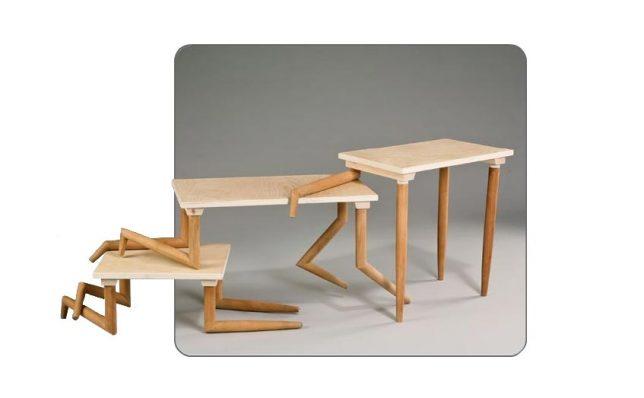 Дизайн образной мебели. Интересные складные столики