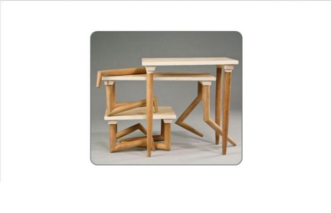 Дизайн образной мебели: необычные ножки у стола «Locomotion»