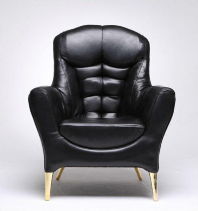 Дизайн образной мебели: кресло с кубиками пресса
