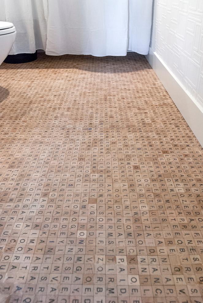 Идеи для вашего дома своими руками: буквенный пол в ванной