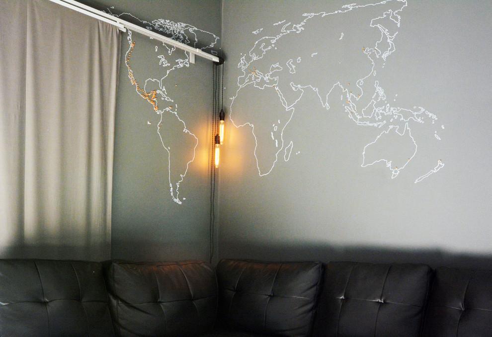 Идеи для вашего дома своими руками: карта мира на стене в гостиной