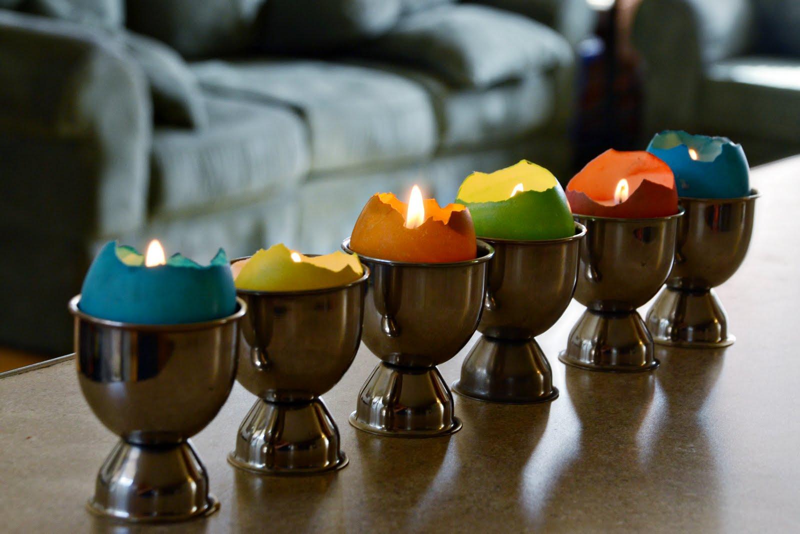 Идеи использования сломанных вещей: декоративные свечки