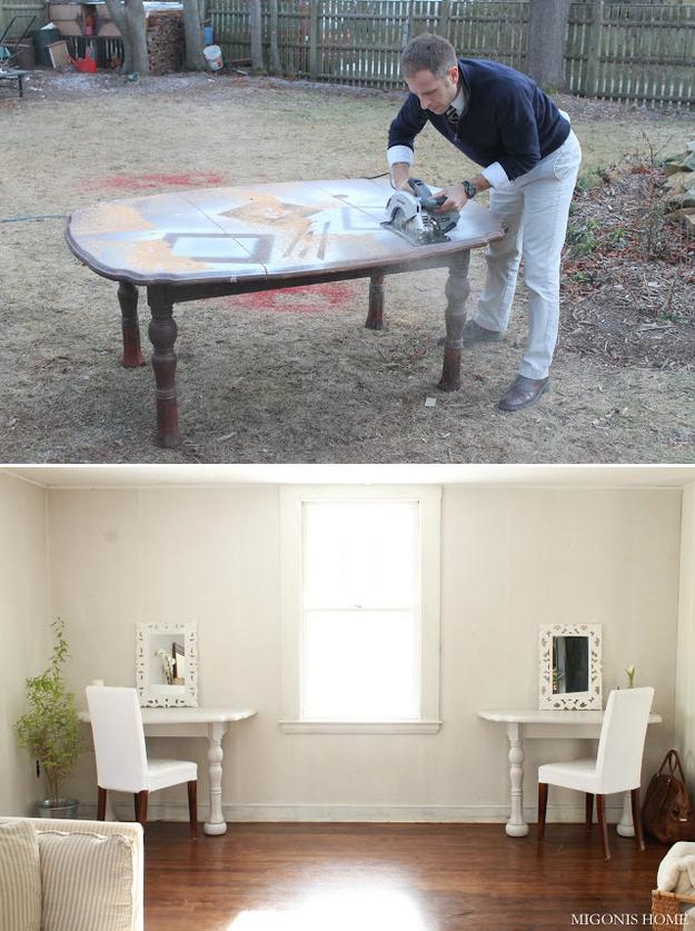 Идеи использования сломанных вещей: два декоративных столика