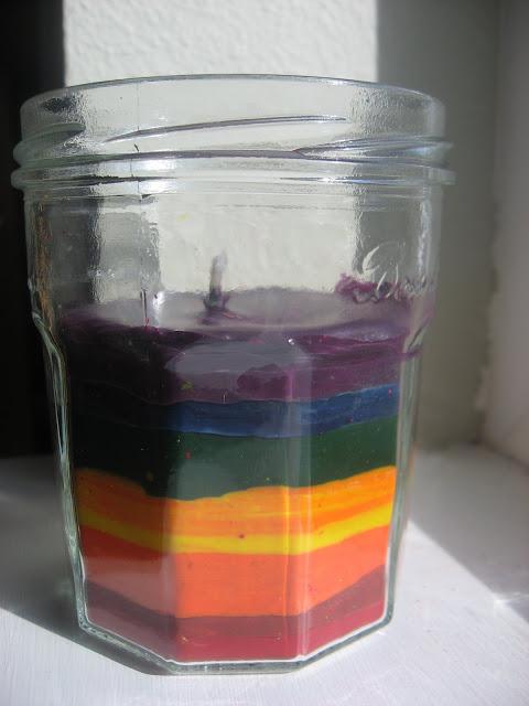 Идеи использования сломанных вещей: свеча в стакане