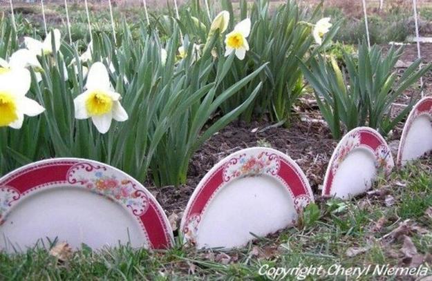 Идеи использования сломанных вещей: разбитые тарелки