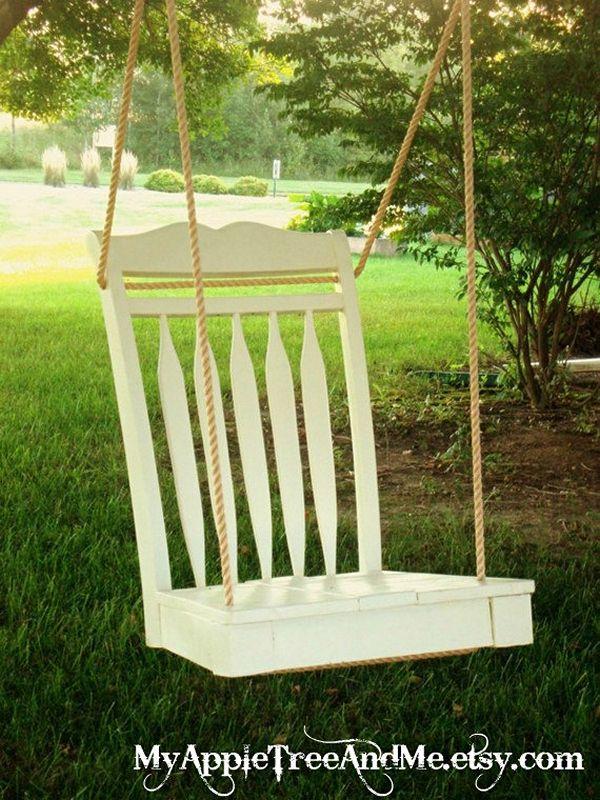 Идеи использования сломанных вещей: удобная качели
