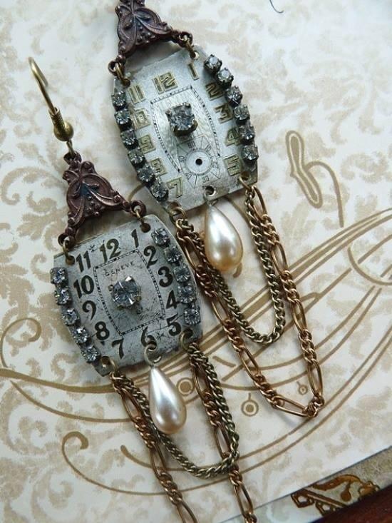 Идеи использования сломанных вещей: часы ожерелья