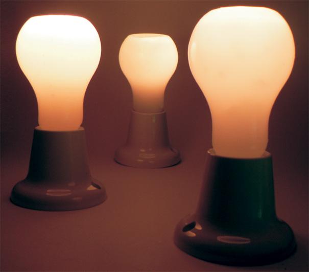 Свечи в форме лампочек