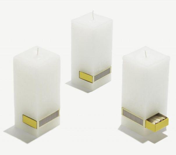 Свечи со спичками