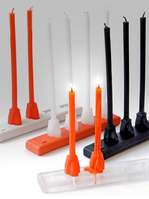Свечи в форме штекеров