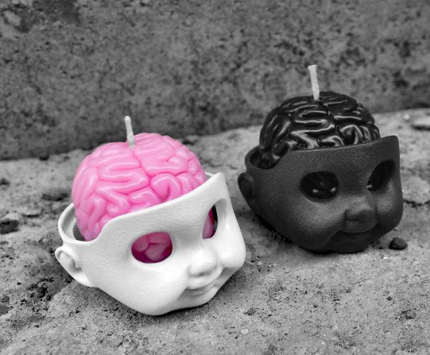 Свечи в форме кукольных голов