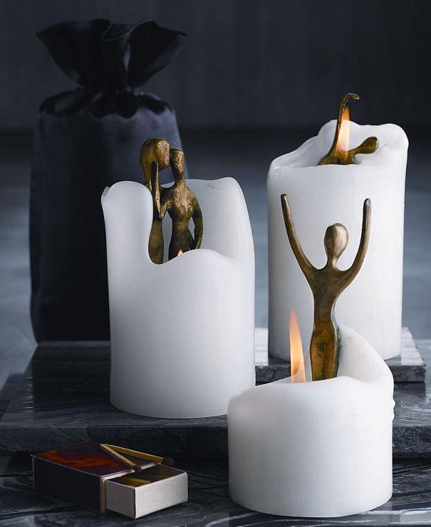 Свечи с фигурками людей