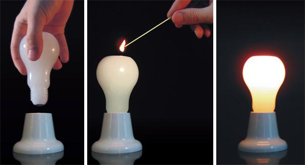 Свеча в форме лампочки