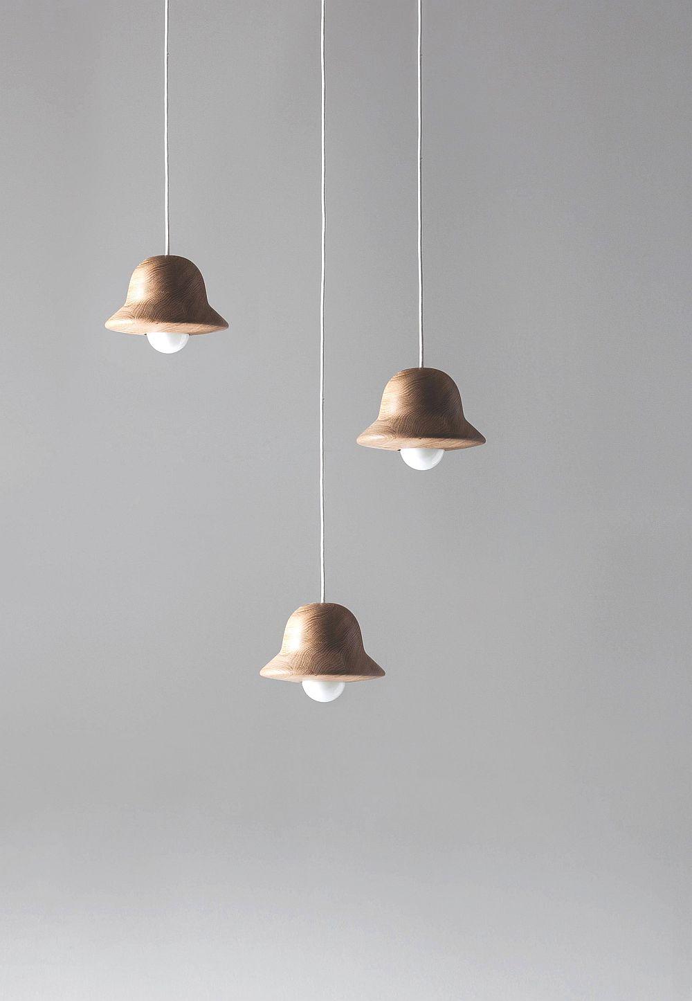 Подвесные светильники из дерева с минимум украшений - фото 6