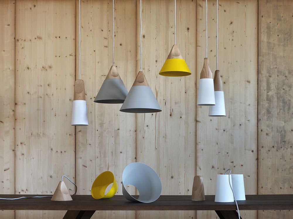 Подвесные светильники из дерева с минимум украшений - фото 8