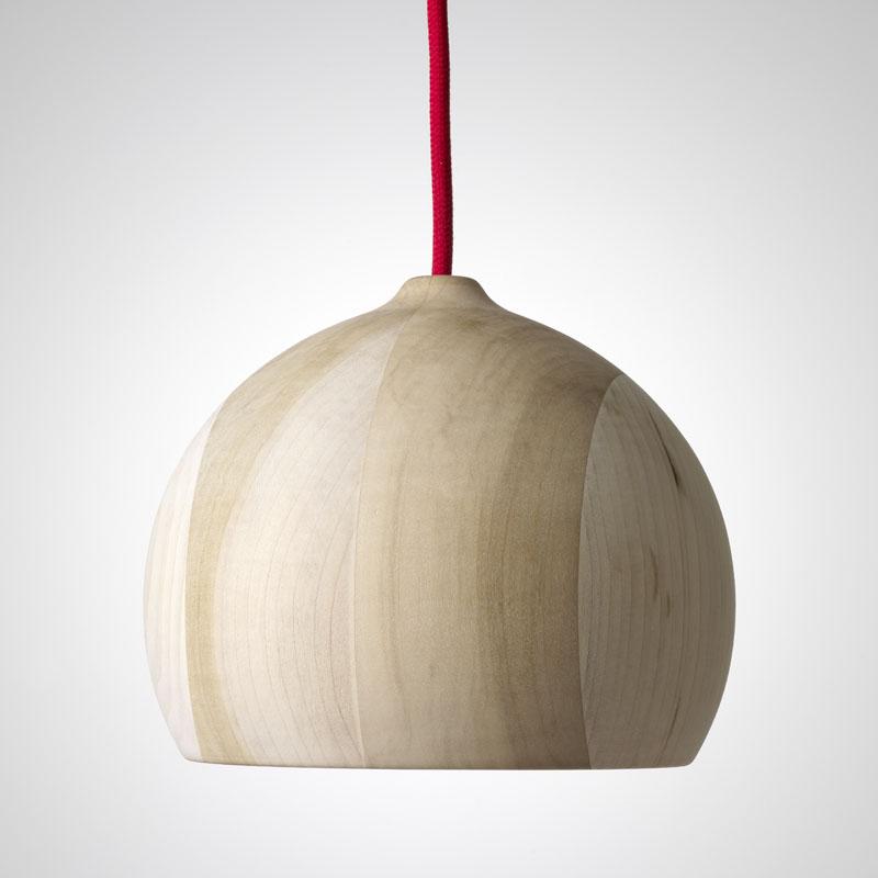 Необычные подвесные светильники из дерева - фото 1