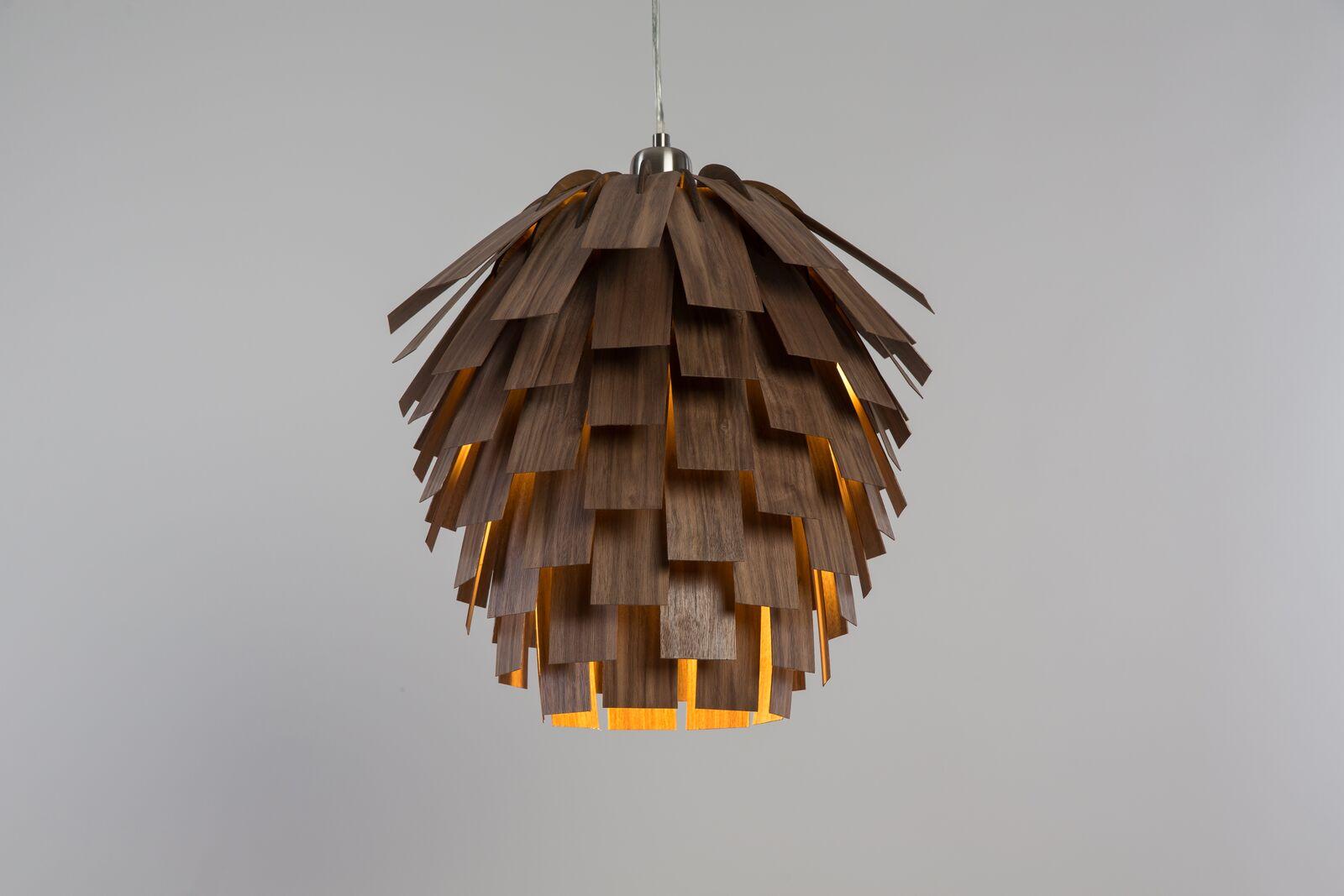 Необычные подвесные светильники из дерева - фото 3