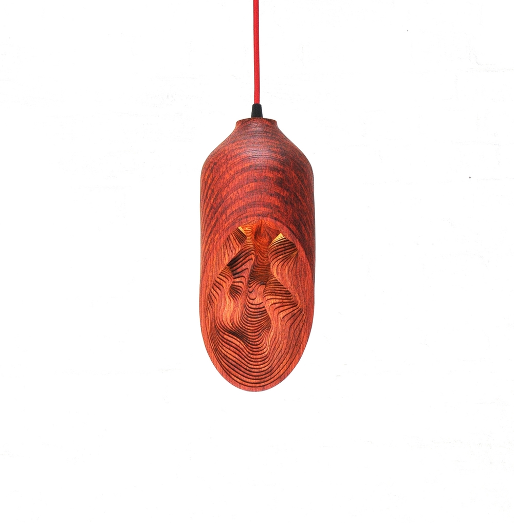 Необычные подвесные светильники из дерева - фото 4