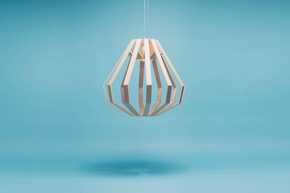 Необычные подвесные светильники из дерева - фото 6