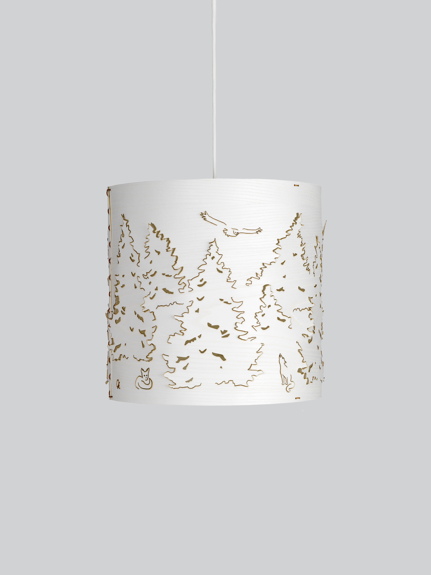 Необычные подвесные светильники из дерева - фото 9