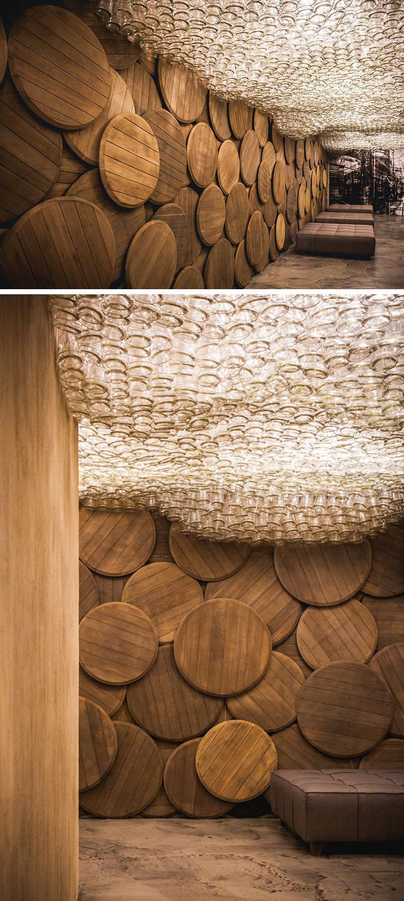 Бутылочные потолочные конструкции