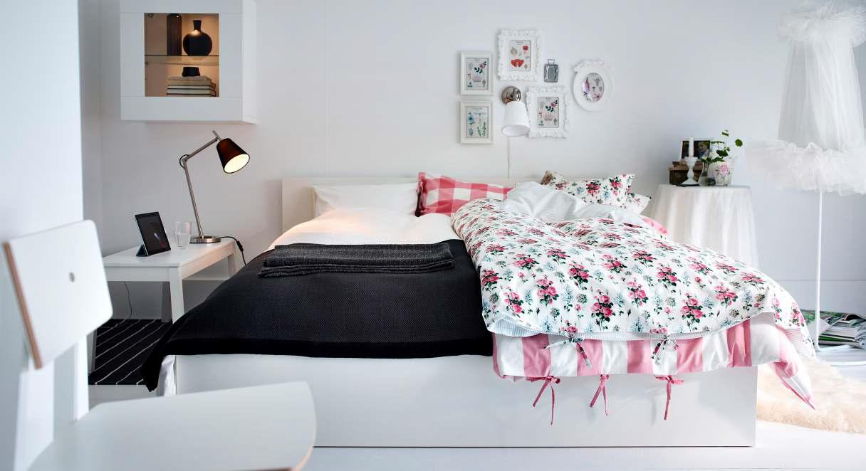 Спальня икеа интерьеры