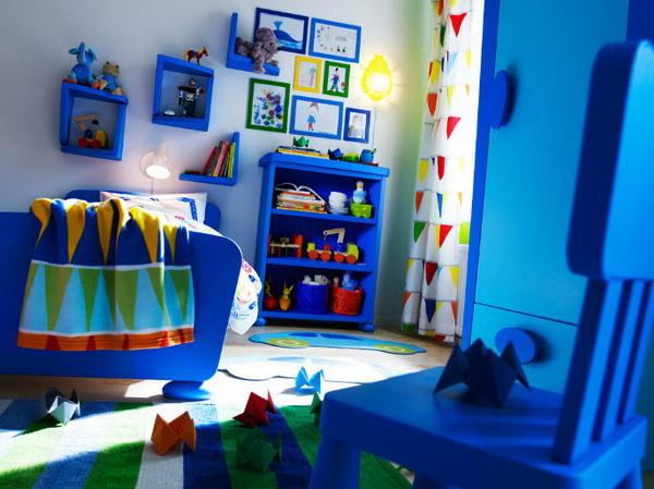 Детская в синем цвете от IKEA