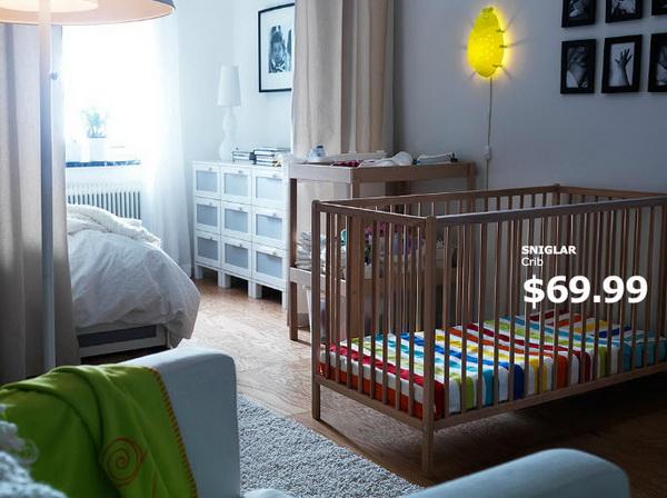 Деревянная кроватка от IKEA