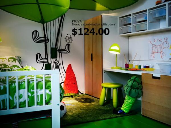 Детская в зелёном цвете от IKEA